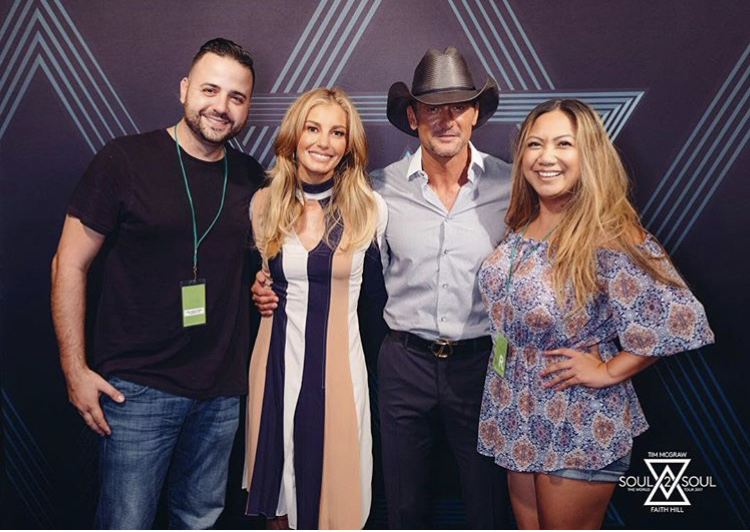 with Faith Hill and Tim Mcgraw