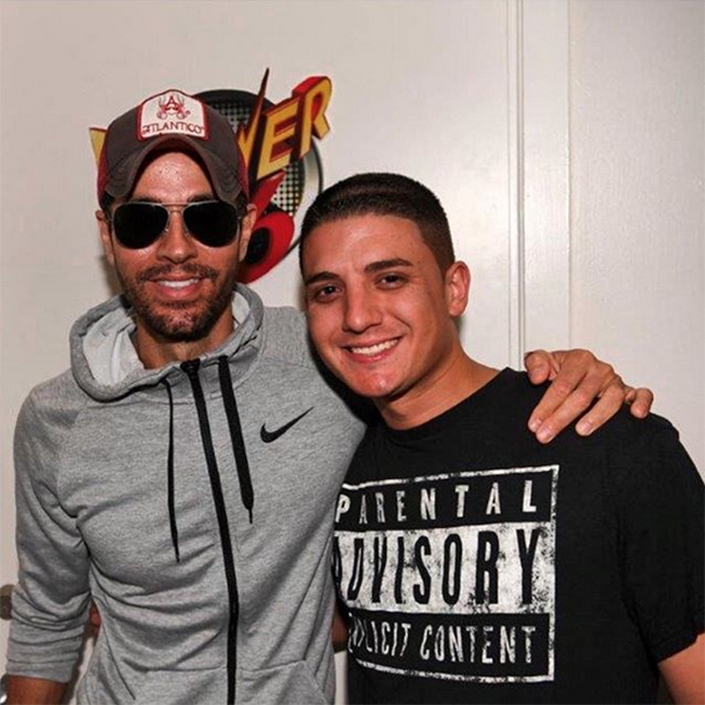 with Enrique Iglesias