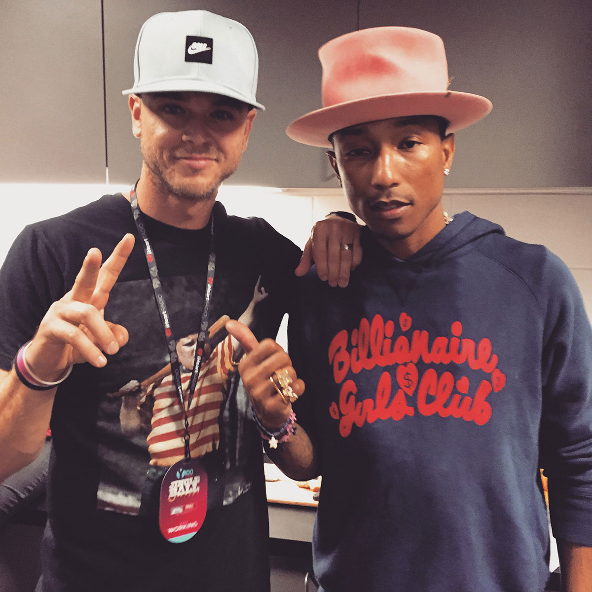 Pharrell at Jingle Ball 2014
