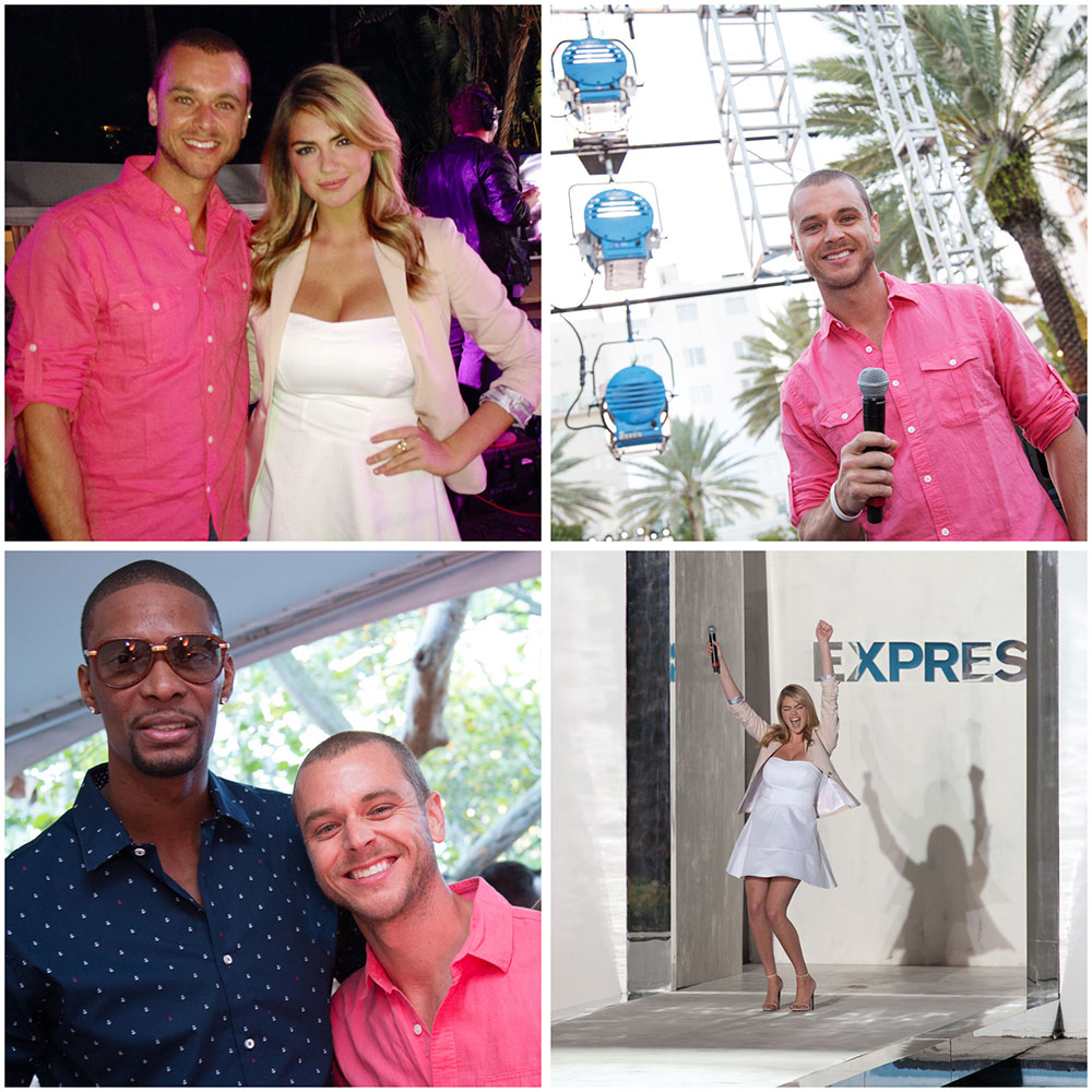 Kate Upton & Chris Bosh at Express Runway Show