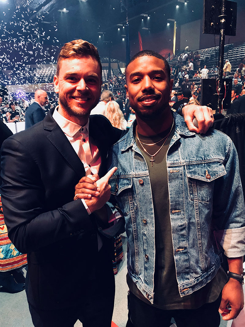 with Michael B. Jordan at the Opening of Hard Rock Atlantic City