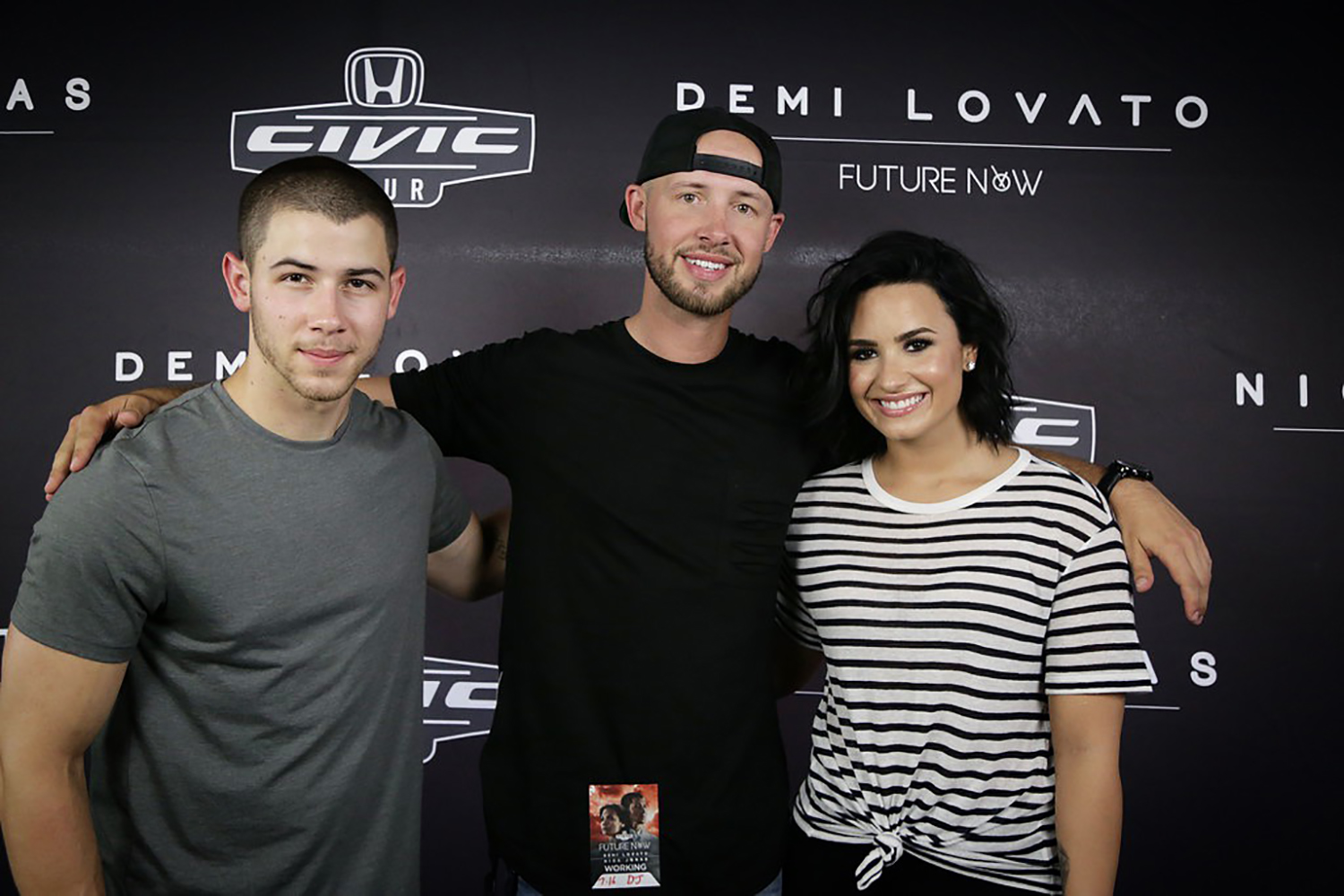 with Nick Jonas & Demi Lovato