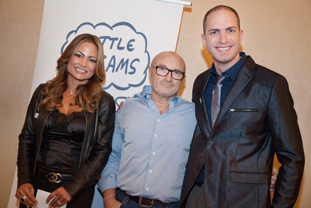 with Phil Collins and the Little Dreams Foundation
